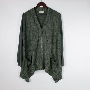 LOGO Lori Goldstein Tri-Blend Zip Sweater 1X